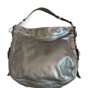 COACH LARGE ZOE PATENT LEATHER  HOBO PURSE